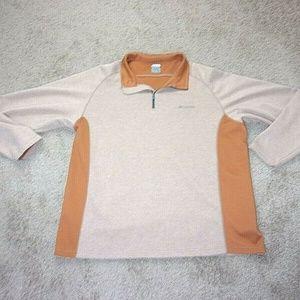 Columbia Titanium Pullover Sweatshirt Rust Tan Men